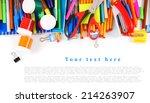 school tools and accessories on ... | Shutterstock . vector #214263907