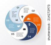 vector circle infographic.... | Shutterstock .eps vector #214272973