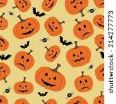 halloween horror symbols... | Shutterstock .eps vector #214277773