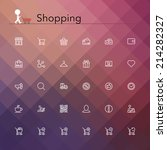shopping and sale line icons... | Shutterstock .eps vector #214282327