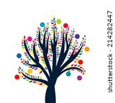abstract tree with colored... | Shutterstock .eps vector #214282447