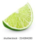 slice of lime citrus fruit... | Shutterstock . vector #214284283