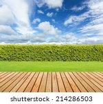 Green Grass And Wooden Floor ...