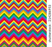 summer pattern zigzag  | Shutterstock .eps vector #214286953