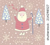 cute christmas greeting card... | Shutterstock .eps vector #214298527