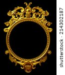golden frame with baroque... | Shutterstock . vector #214302187