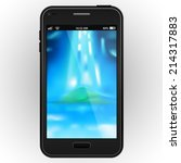 abstract black mobile phone... | Shutterstock .eps vector #214317883