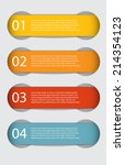 infographic templates for... | Shutterstock .eps vector #214354123