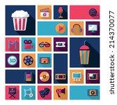 set of movie design elements... | Shutterstock .eps vector #214370077