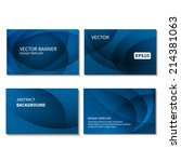 set of four business cards... | Shutterstock .eps vector #214381063