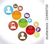 infographic design over white... | Shutterstock .eps vector #214404733