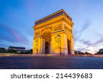 arc of triomphe champs elysees... | Shutterstock . vector #214439683