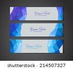 a set of modern blue vector... | Shutterstock .eps vector #214507327