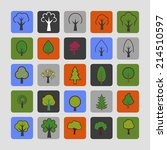 tree icon set | Shutterstock .eps vector #214510597