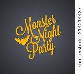 halloween party vintage... | Shutterstock .eps vector #214514437