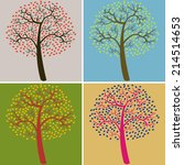 collection of multi   colored... | Shutterstock .eps vector #214514653