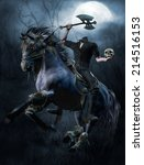 Fantasy Headless Horseman With...