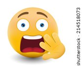yellow emoticon cartoon... | Shutterstock .eps vector #214518073