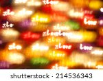 shiny love bokeh light... | Shutterstock . vector #214536343