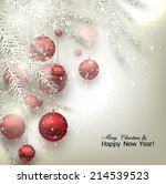 christmas background with balls.... | Shutterstock .eps vector #214539523