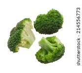 cooked broccoli isolated on... | Shutterstock . vector #214556773