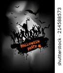 grunge style halloween party... | Shutterstock .eps vector #214588573