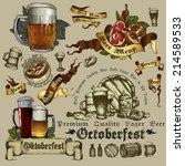 set of beer elements | Shutterstock .eps vector #214589533