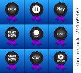 vector set icons for print  app ... | Shutterstock .eps vector #214592467