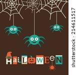 halloween card design. vector... | Shutterstock .eps vector #214611517