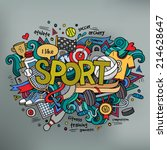sport hand lettering and... | Shutterstock .eps vector #214628647