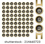 golden buttons. internet and... | Shutterstock . vector #214660723