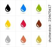 9 drop  petroleum  water  eco ... | Shutterstock .eps vector #214670617
