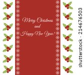 christmas and new year greeting ... | Shutterstock .eps vector #214676503
