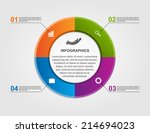 abstract circle infographic... | Shutterstock .eps vector #214694023