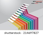 the 3 dimensions stair have... | Shutterstock .eps vector #214697827