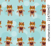 seamless pattern with funny... | Shutterstock . vector #214700407