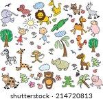 children's drawings  | Shutterstock .eps vector #214720813
