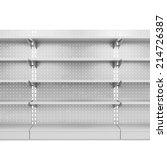 store shelves. 3d illustration... | Shutterstock . vector #214726387