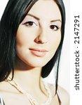 portrait of the beautiful girl   Shutterstock . vector #2147291
