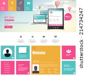flat vector website template...