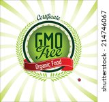 ecology gmo free background | Shutterstock .eps vector #214746067