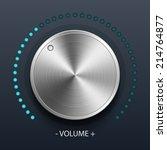volume knob with metal texture  ...