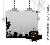 banner for halloween with... | Shutterstock .eps vector #214773367