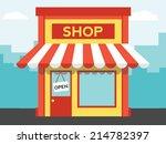 vector shop or market ... | Shutterstock .eps vector #214782397