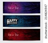 happy halloween horizontal...   Shutterstock .eps vector #214824547