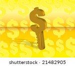 money key over a yellow... | Shutterstock .eps vector #21482905