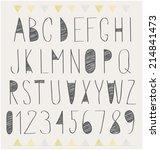 handwritten font  hand drawn... | Shutterstock .eps vector #214841473