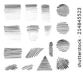 vector hand draw shapes with...   Shutterstock .eps vector #214845523