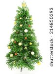 decorated christmas tree... | Shutterstock . vector #214850293