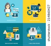 hacker activity computer and e... | Shutterstock .eps vector #214860427